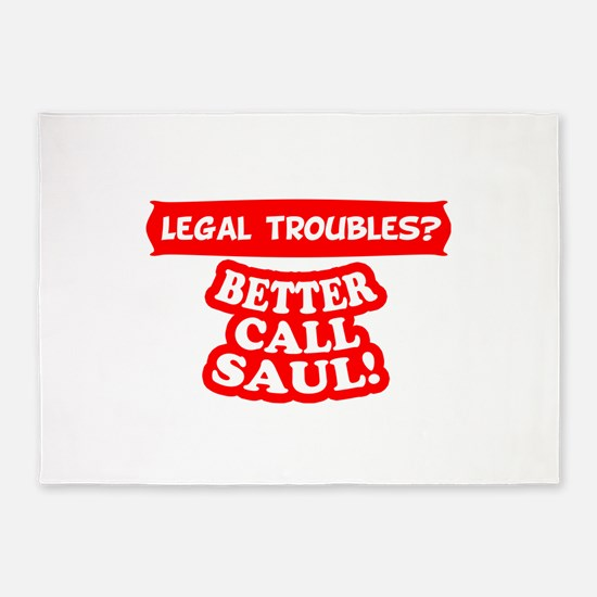 Legal Troubles 5'x7'Area Rug