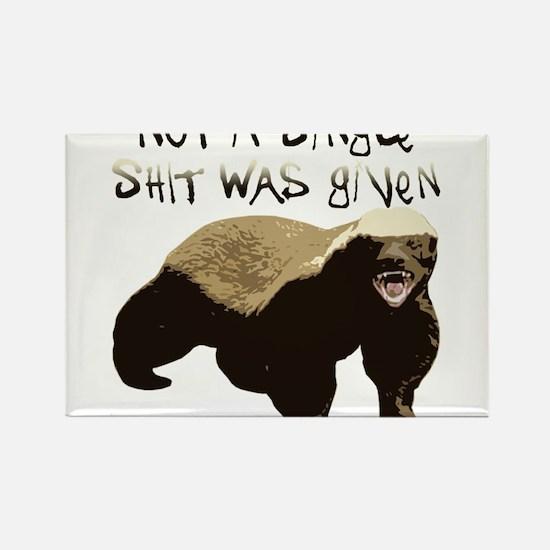 Cute Honey badger dont care Rectangle Magnet