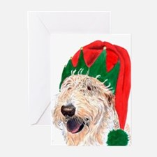 Santa's Helper Labradoodle Greeting Cards
