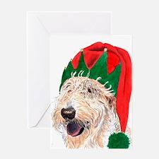 Santa's Helper Labradoodle Greeting Cards