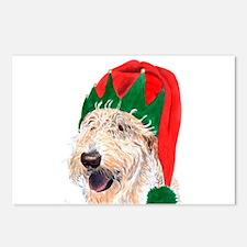 Santa's Helper Labradoodle Postcards (Package of 8