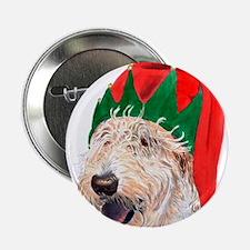 "Santa's Helper Labradoodle 2.25"" Button (10 pack)"