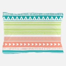 Lime Teal Coral Tribal Vintage Stripes Pillow Case