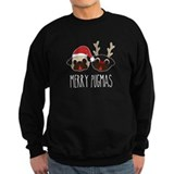 Christmas pug Sweatshirt (dark)