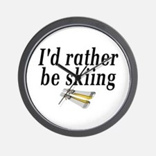 I'd rather be skiing - Wall Clock