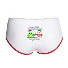 Our First Christmas Owls Women's Boy Brief