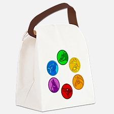 Celtic Animal Symbols Canvas Lunch Bag
