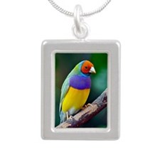 Colorful gouldian finch Necklaces