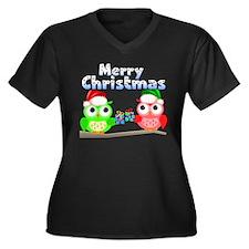 Merry Christ Women's Plus Size V-Neck Dark T-Shirt