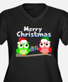 Merry Christ Women's Plus Size V-Neck Dark T-Shirt