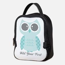 Cute Winter Owl Neoprene Lunch Bag