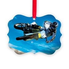 Motocross Side Trick Ornament