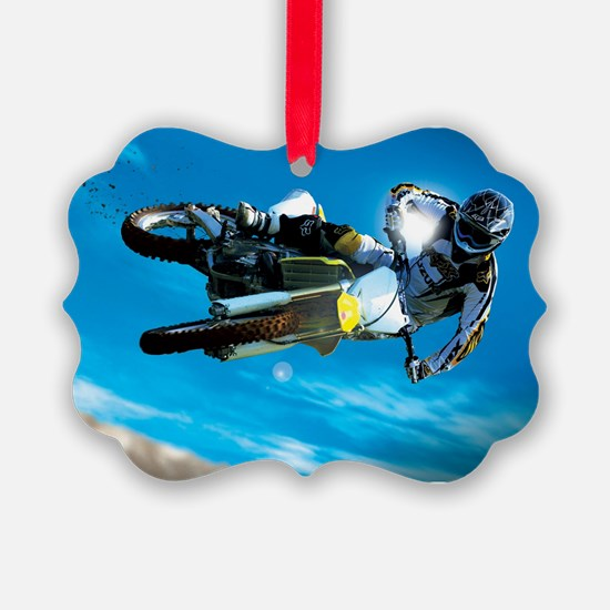 Motocross Side Trick Ornament