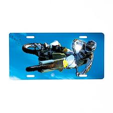 Motocross Side Trick Aluminum License Plate