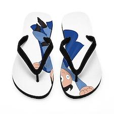 funny super hero Flip Flops