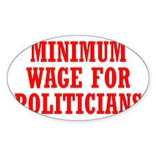 Cute Minimum wage Decal