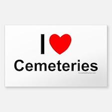 Cemeteries Sticker (Rectangle)