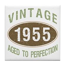 1955 Vintage Birth Year Tile Coaster