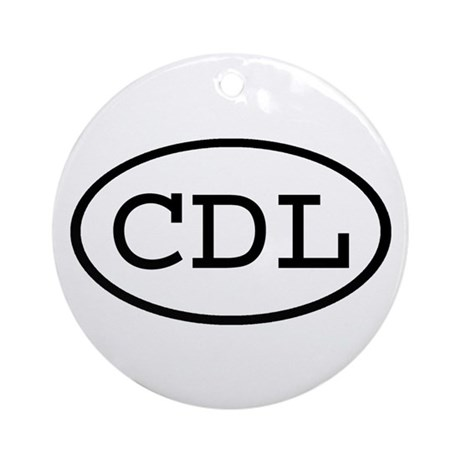 CDL Oval Ornament (Round)