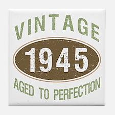 1945 Vintage Birth Year Tile Coaster