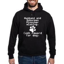 Husband And Doberman Pinscher Missing Hoody