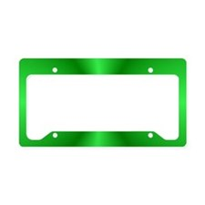 Green Shine License Plate Holder