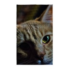 Orange Tabby cat Close up 3'x5' Area Rug