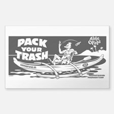 Pack Your Trash Geek Canoe Decal
