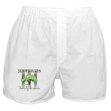 MATHEWS family reunion (tree) Boxer Shorts
