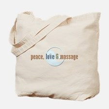 Peace, Love and Massage Tote Bag