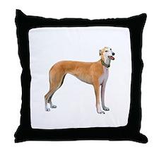Greyhound (ltRed) Throw Pillow
