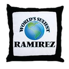World's Sexiest Ramirez Throw Pillow