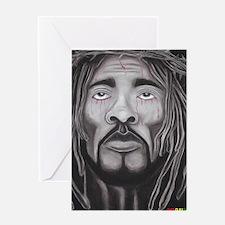Black Jesus Greeting Cards