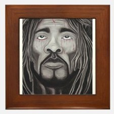 Black Jesus Framed Tile