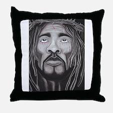 Black Jesus Throw Pillow