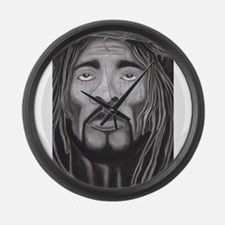 Black Jesus Large Wall Clock