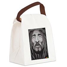 Black Jesus Canvas Lunch Bag
