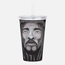 Black Jesus Acrylic Double-wall Tumbler