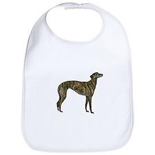 Greyhound (brindle) Bib