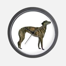 Greyhound (brindle) Wall Clock