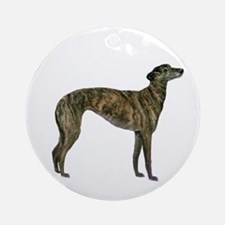 Greyhound (brindle) Ornament (round)