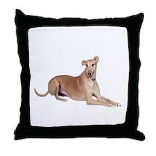 Greyhound (liedown) Throw Pillow