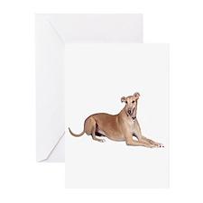 Greyhound (liedown) Greeting Cards (Pk of 10)