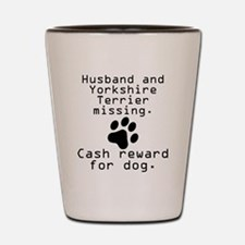 Husband And Yorkshire Terrier Missing Shot Glass