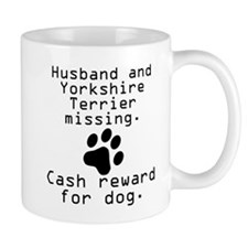 Husband And Yorkshire Terrier Missing Mugs