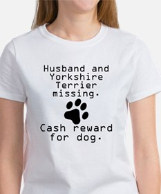 Husband And Yorkshire Terrier Missing T-Shirt