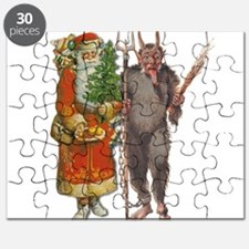 Krampus And Santa Claus Are Here Puzzle