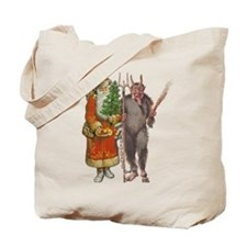 Krampus And Santa Claus Are Here Tote Bag