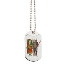 Krampus And Santa Claus Are Here Dog Tags
