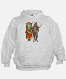 Krampus And Santa Claus Are Here Hoody